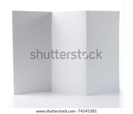 Flyer with zig zag Z-Fold. isolated over white background - stock photo