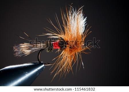 flyfishing fly fishing hook - stock photo