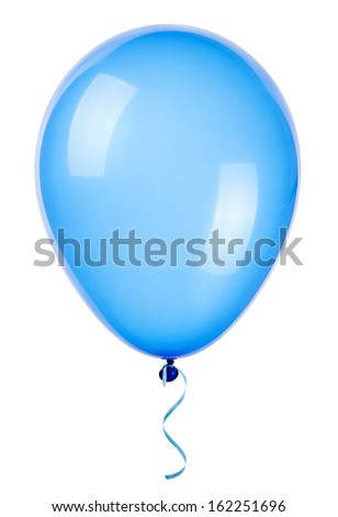flying balloon isolated on a white background - stock photo