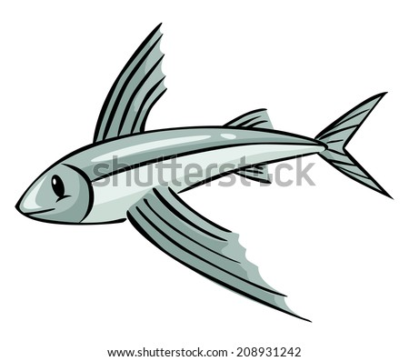 flying fish cartoon - photo #11