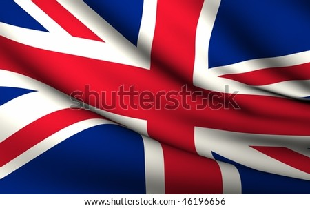 Flying Flag Of United Kingdom