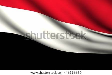Flying Flag of Yemen | All Countries Collection | - stock photo