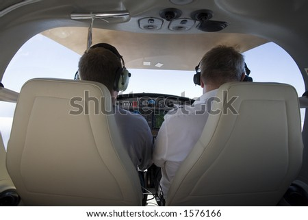 Flying in an aircraft