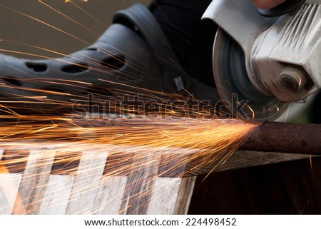 flying sparks during metalworking