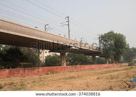 Flyover For Railway - stock photo