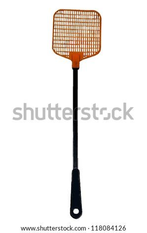 Flyswatter isolated on a white background - stock photo