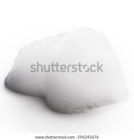 foam Isolated on white background - stock photo