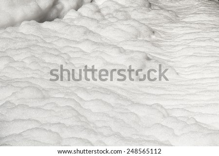 Foam of Water pollution in canal because industrial not treat water before drain. - stock photo