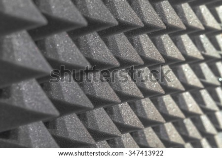 foam sound proofing - stock photo