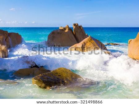 Foam Summer Seascape  - stock photo