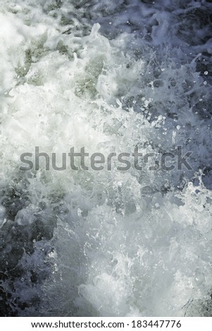 Foam urban source water jet and wet - stock photo