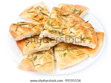 Focaccia bread - stock photo
