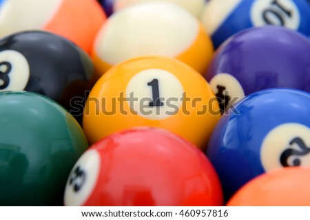 Focus at Number 1 one pool ball like target goal
