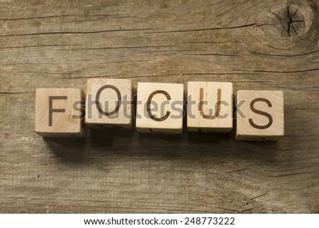 focus concept - stock photo
