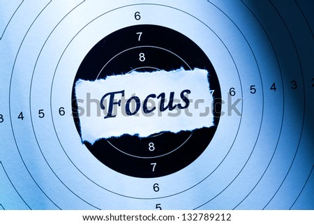 Focus concept, word on target paper