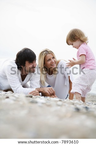 focus is mainly on the mother - stock photo