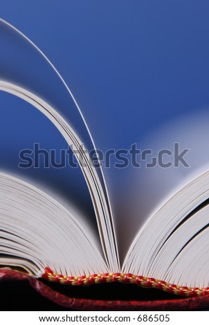 Focus on edge of pages - stock photo