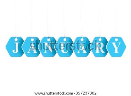Focus on January sales - stock photo