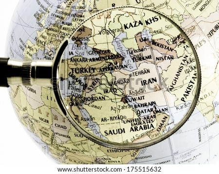 focus on middle east - stock photo