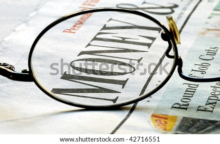 Focus on money investing - stock photo