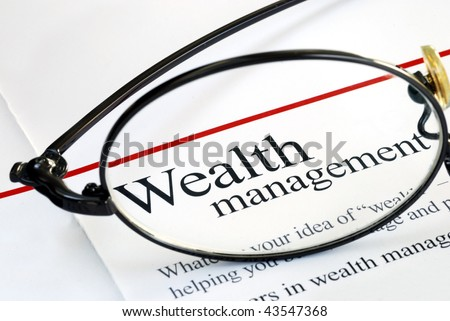 Focus on wealth management - stock photo