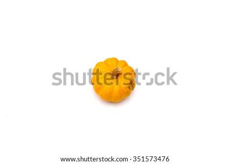 Focus pumpkin on a white background - stock photo