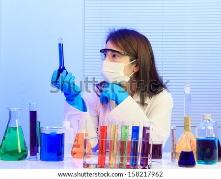 Focused life science professional solution lens focus on the researcher's eye.