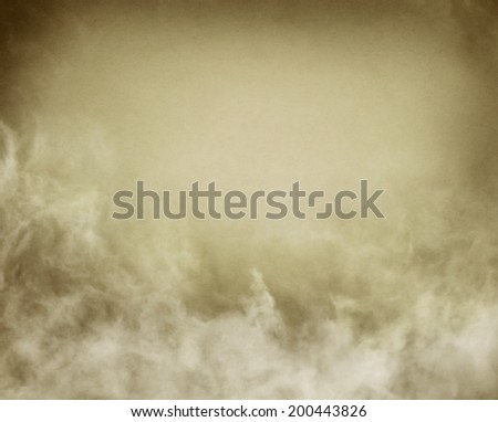 Fog, mist, and clouds with subtle sepia and gray tones.  Image has a distinct texture and grain pattern visible at 100 percent. - stock photo