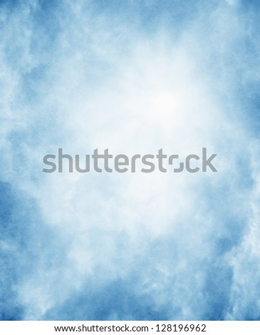 Fog on a vintage, textured paper background - stock photo