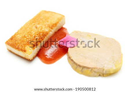 Foie gras with toast, close-up