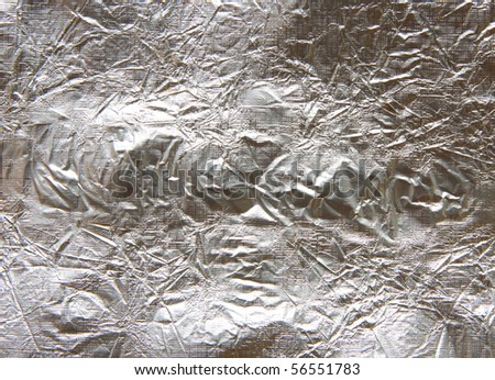 Foil from aluminum close up - stock photo