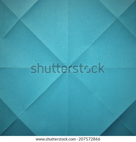 Folded blue origami  paper seamless texture - stock photo