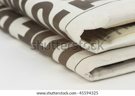 Folded Newspaper - stock photo