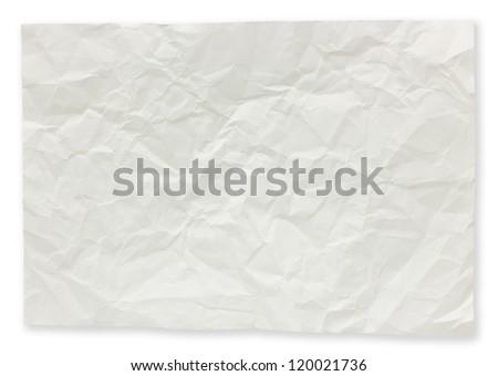 Folded paper notes isolated on white background. - stock photo