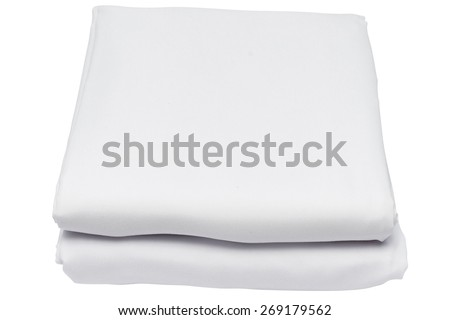 Folded sheet on white background