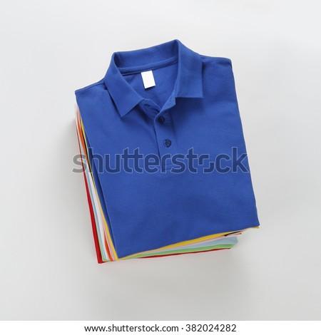 Folded shirt - stock photo