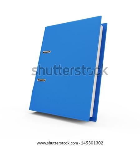 Folder for Documents isolated on white background - stock photo