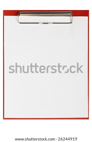 Folder for papers wtih empty blank - stock photo