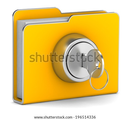 folder is closed on the lock - stock photo