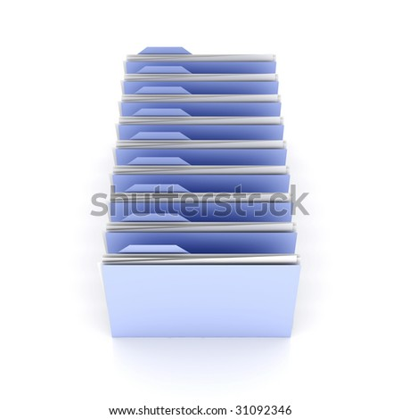 Folder row	 - stock photo