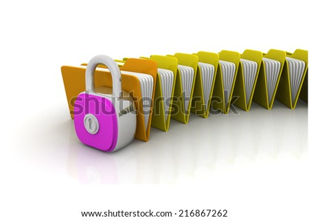 Folder security concept  - stock photo