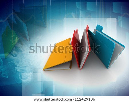 folder with documents - stock photo