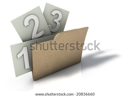 Folder with 123 options - stock photo