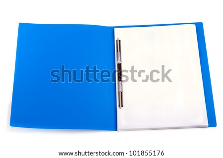 folder with the documents isolated on a white background - stock photo