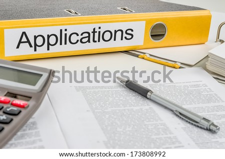 Folder with the label Applications - stock photo