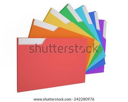 Folders colored - stock photo