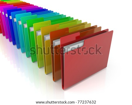 Folders Icon with variations of colors
