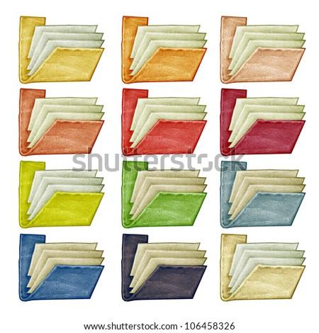 folders isolated - stock photo