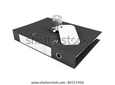 folders key on a white background - stock photo