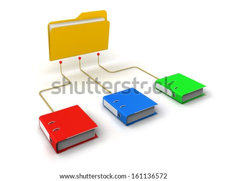 Folders Network Structure - stock photo